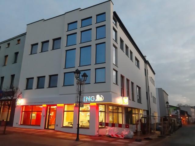 Były budynek Telekomunikacji Polskiej po remoncie i rozbudowie.