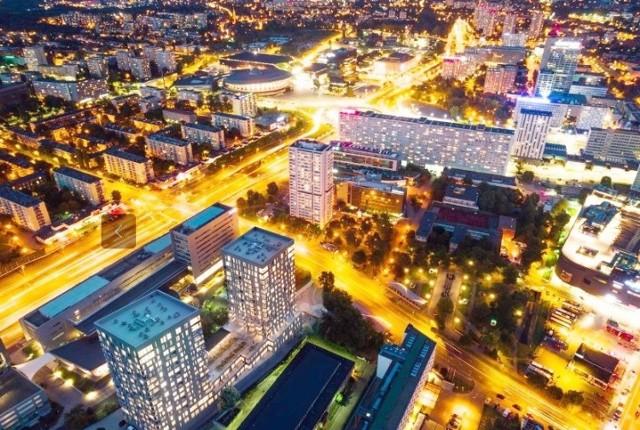 W centrum Katowic rosną dwie 17-piętrowe wieże Sokolska 30 Towers. Z siłownią, sauną  i klubem malucha tylko dla mieszkańców. Buduje je firma Atal. Oto zdjęcia z budowy z września 2019, wizualizacji i rozkład mieszkań.