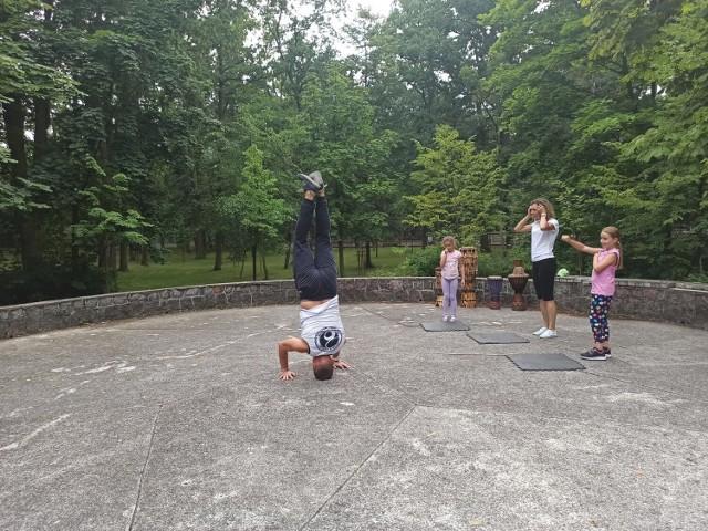 Capoeira w Parku Chopina w Koninie