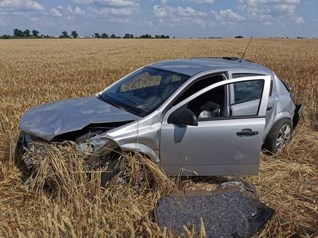 Pijany kierowca wylądował z autem w zbożu. Miał 3,5 promila alkoholu