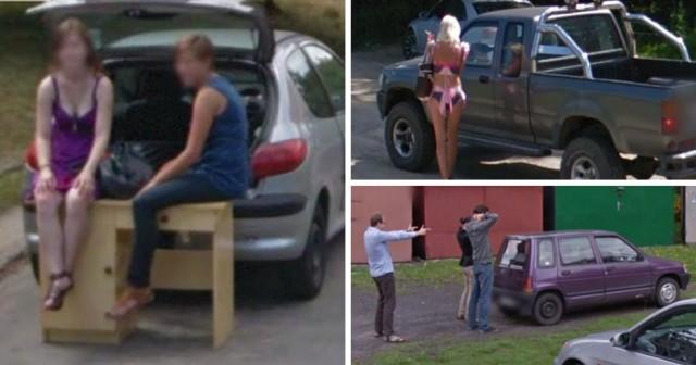 Przyłapani przez samochód Google. Zobacz te zdjęcie >>>