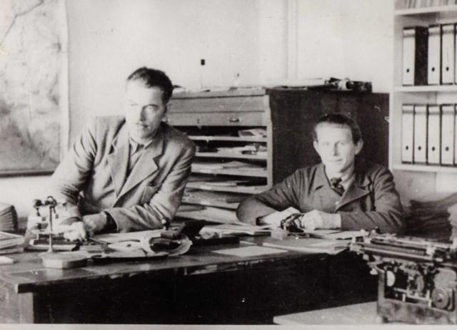 Z lewej : Stefan Lipicki, pierwszy prezydent Kołobrzegu