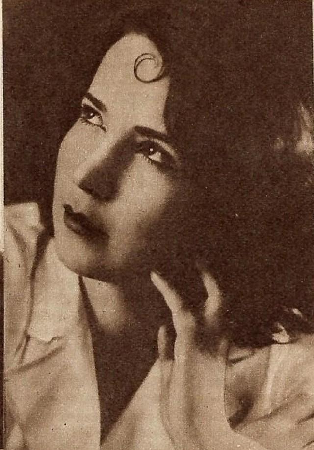 """Natalia Giginajszwilli – Miss Tomaszowa z 1931 roku.  Foto: """"Kino"""" z 9 maja 1932 roku."""