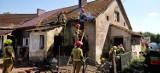 Pożar w Mostach. Strażacy z Goleniowa w akcji