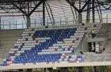 Nowy stadion w Zabrzu: przybywa krzesełek na trybunach [ZDJĘCIA]
