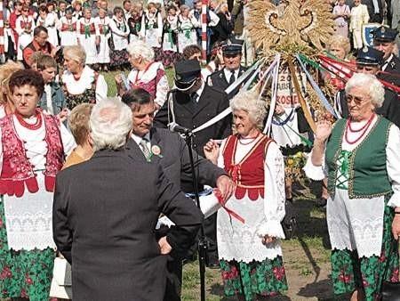 Rumuńskim gościom nasze dożynki bardzo się podobały.