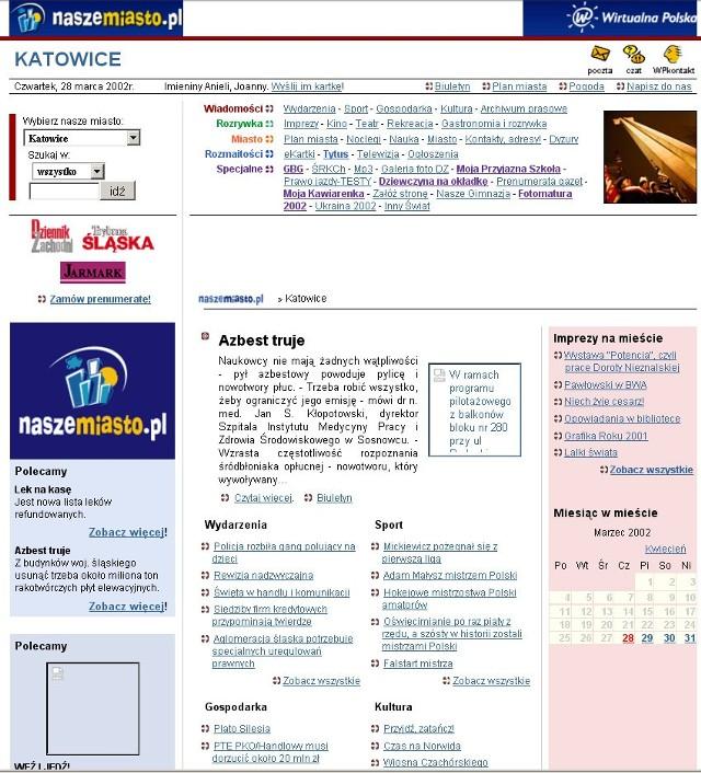 Naszemiasto.pl w 2002 roku