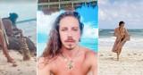 """Michał Szpak na wczasach. Praży się w słońcu i pokazuje """"kaloryfer"""" na Instagramie [ZDJĘCIA]"""