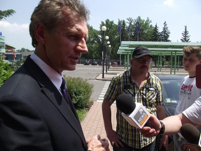 Dyrektor elektrowni Turów Roman Walkowiak.