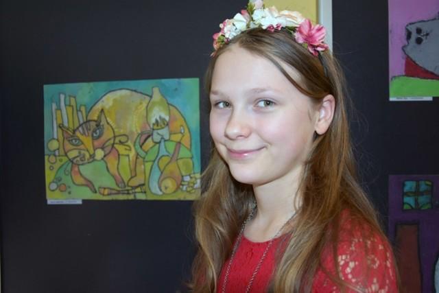 """Ogólnopolski Konkurs Plastyczny """"Koty"""", Grand Prix dla Anny Jabłońskiej."""