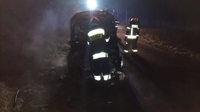 W Zielnowie w powiecie grudziądzkim zapalił się samochód