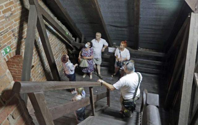 Zwiedzanie Bazyliki Kolegiackiej w Grudziądzu z wejściem na wieżę świątyni zorganizowano z okazji 730-lecia Grudziądza.