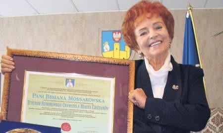Prof. Bibiana Mossakowska jest pierwszą kobietą wyróżnioną tytułem honorowego obywatela miasta, foto: Edyta Szewczyk