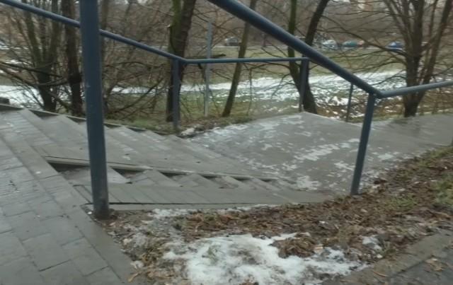 Nowe schody przy Opolskiej – efekt realizacji Budżetu Obywatelskiego