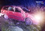 Skoczów: 26-latka wpadła autem do rowu. Była pod wpływem narkotyków i alkoholu
