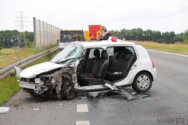 Wypadek na obwodnicy Opola.