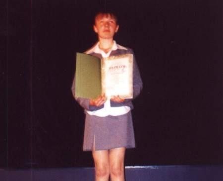 Edyta Dmuchała, chwilę po odebraniu pamiątkowego dyplomu.