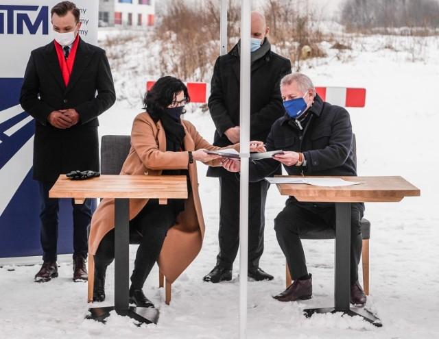 Podpisanie umowy na budowę nowej linii tramwajowej