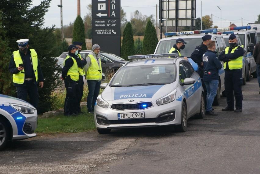 Protest rolników z powiatów kaliskiego i ostrowskiego....