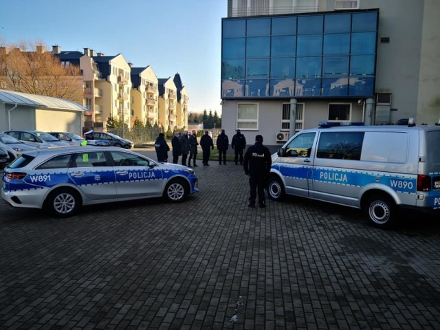 Uroczystość w komendzie policji w Szczecinku
