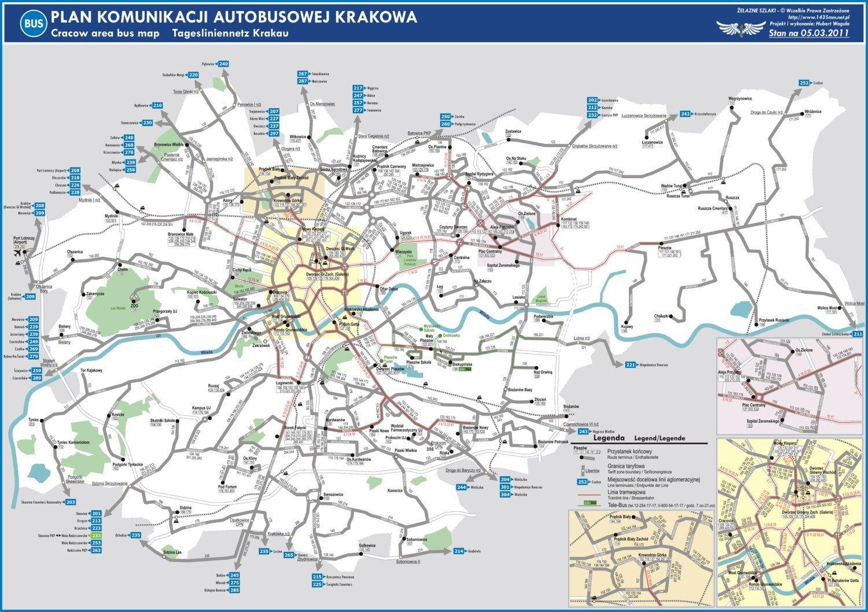 Mpk Krakow Zobacz Mape Komunikacji Dziennej Autobusowej Krakow