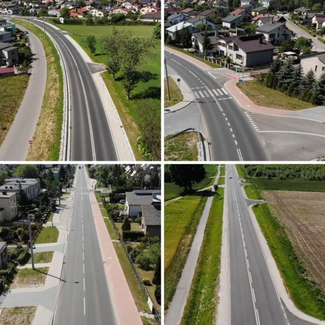 Rozbudowa odcinka drogi  wojewódzkiej 242 między Wyrzyskiem, a Osiekiem objęła między innymi budowę chodników oraz drogi rowerowej