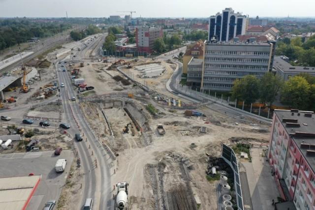 Centrum przesiadkowe Opole Wschodnie - prace w rejonie stacji kolejowej i ul. Oleskiej