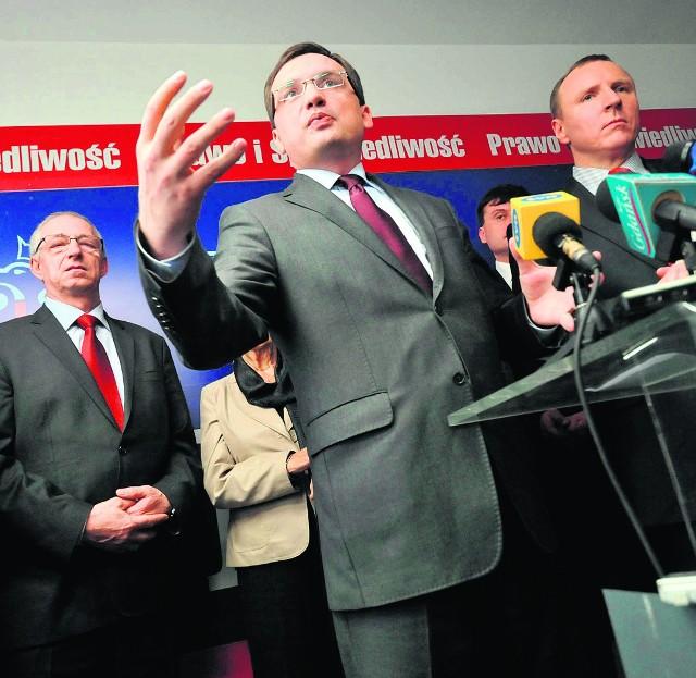 Zbigniew Ziobro wsparł w Gdańsku kandydatów PiS na radnych.
