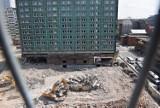 Trwa rozbiórka hotelu Silesia w Katowicach ZDJĘCIA Prace nabrały rozmachu