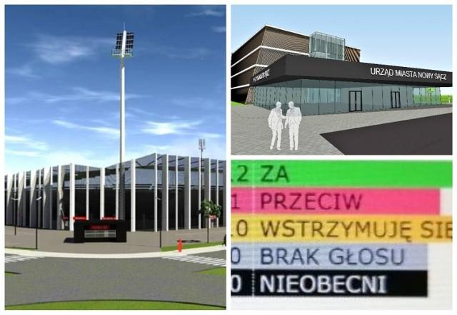 Prezydent otrzymał do rady zielone światło w sprawie budowy stadionu Sandecji, urzędu miasta oraz parkingu