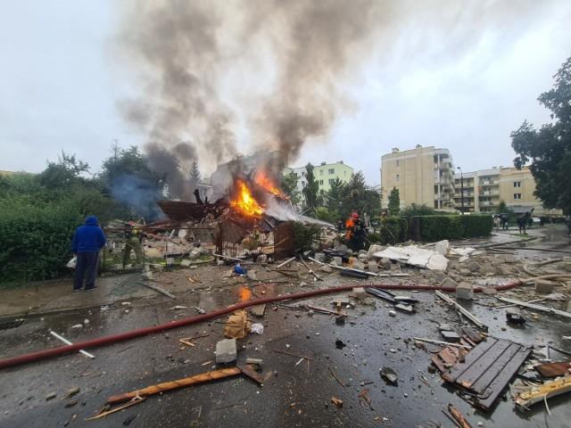 Wybuch w domu przy ul. Wybickiego w Toruniu.
