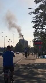 Pożar w hotelu DoubleTree by Hilton w Łodzi [ZDJĘCIA]