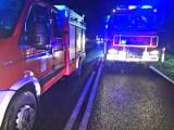 Poważny wypadek busa w powiecie zielonogórskim. Pojazdem jechało osiem osób