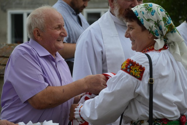Zespół górali czadeckich Stanowianie obchodził swój jubileusz. Genowefa Chabiniak i Jan Drozdek.
