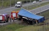 Wypadek na drodze ekspresowej S3 w Legnicy [ZDJĘCIA]