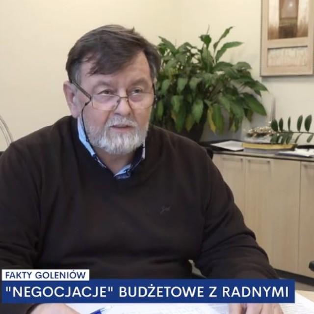 """Wiceburmistrz Henryk Zajko w nagraniu dla """"Faktów Goleniów"""""""