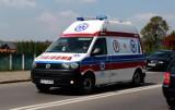 Póltoraroczne dziecko i jego matka zabrani do szpitala po wypadku na drodze nieopodal Nowego Sącza