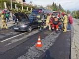 Wypadek w Przemyślu. Bus uderzył w tył hondy [ZDJĘCIA]