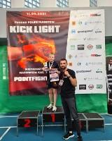 Patryk Klamrowski z Agoga Gym z Pucharem Polski w kickboxingu w formule Kick Light