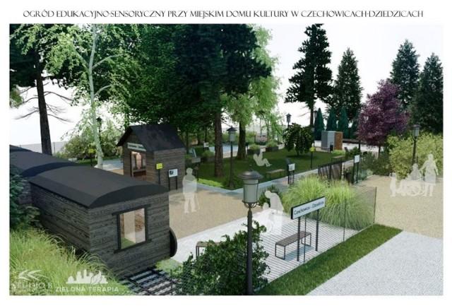 Ogród edukacyjno-sensoryczny przy MDK w Czechowicach-Dziedzicach będzie nawiązywał do tradycji przemysłowych miasta.