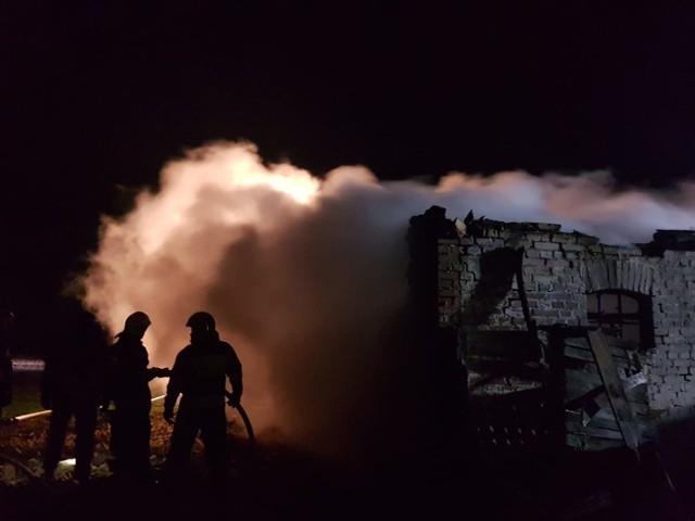 Płonął budynek mieszkalny w Białochowie pod Grudziądzem