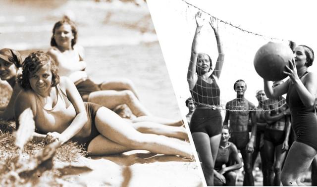 """Czasy, w których nad głową co 10 minut nie przechodził pan """"z gorącą gotowaną kukurydzą i zimnym piwem"""", a na plażach nie budowano zasieków z parawanów... Tak kiedyś (również aktywnie) wypoczywano.   Zapraszamy do obejrzenia archiwalnych zdjęć plażowiczów - fotografie pochodzą z Narodowego Archiwum Cyfrowego."""