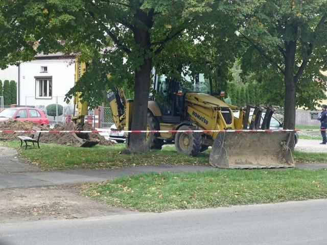 Pocisk moździerzowy przy ulicy Polnej.Ewakuacja MOPS