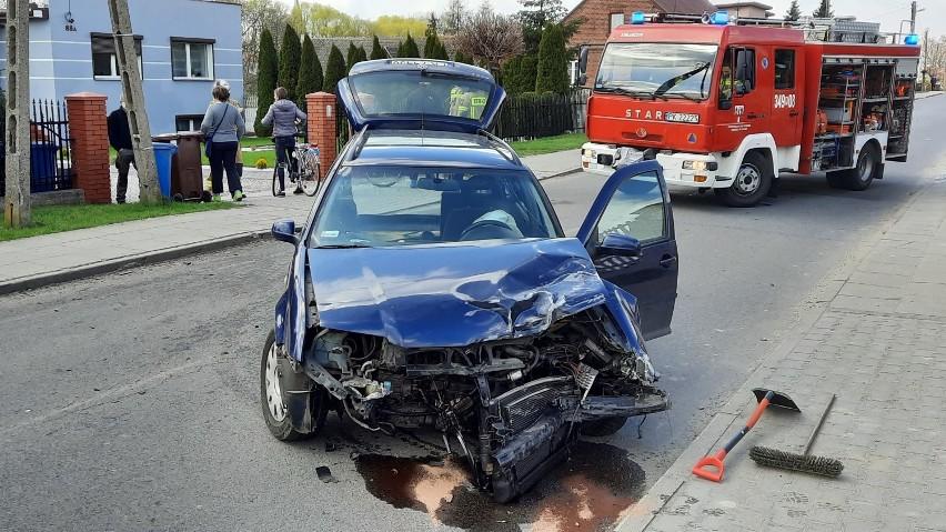 Wypadek w Kaliszu. Zderzenie dwóch na ulicy Korczak