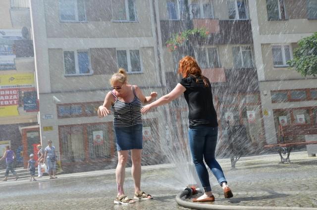 Kurtyna wodna. Fot Mariusz Witkowski