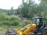 Wypadek w Kiczni. Auto w rzece [ZDJĘCIA]