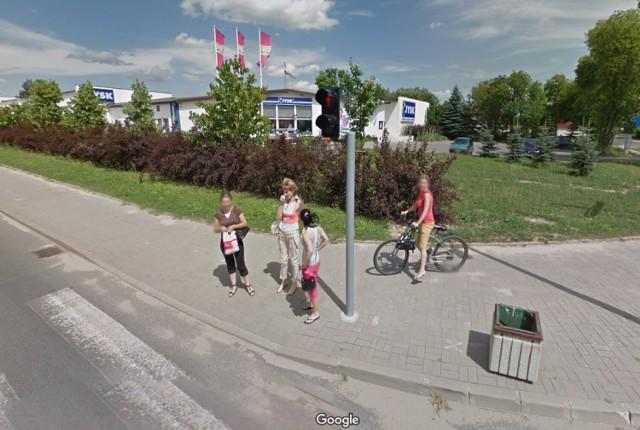 Bełchatów na Google Street View w 2012 i 2013 roku