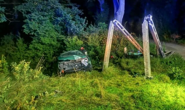 Wypadek w Zwanowicach 2.09.2021r.