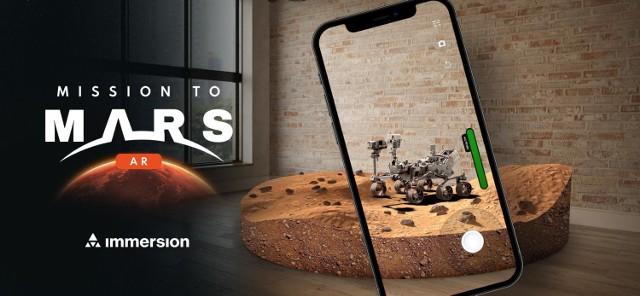 Łazik marsjański Perseverance na Marsie. Firma Immersion z Warszawy przygotowała oficjalną bezpłatną aplikację Mission to Mars AR [ZDJĘCIA]