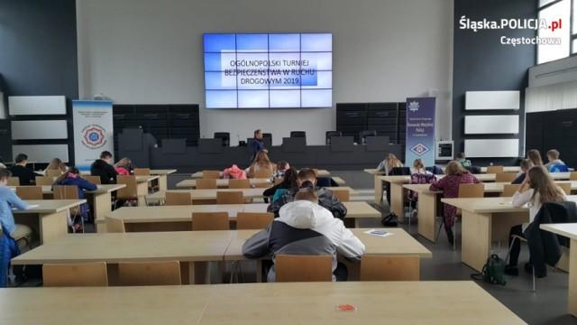 Eliminacje powiatowe Ogólnopolskiego Turnieju Bezpieczeństwa Ruchu Drogowego w Częstochowie 30.04.2019.